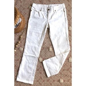 Tory Burch white cropped jeans